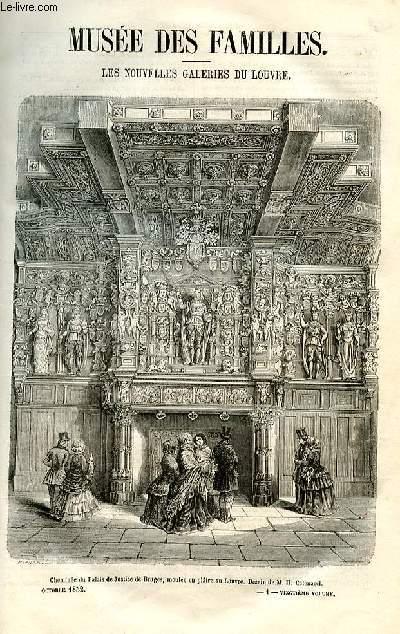 Le musée des familles - lecture du soir - deuxième série - livraison n°01 et 02 - Les nouvelles galeries du Louvre.