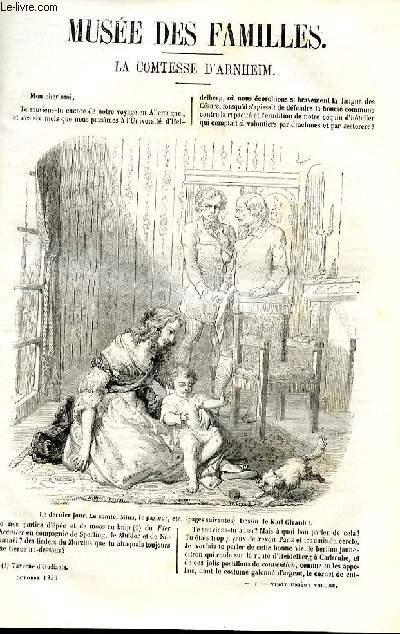 Le musée des familles - lecture du soir - deuxième série - livraison n°01 -  La comtesse d'Arnheiml par Chalrles Basset.