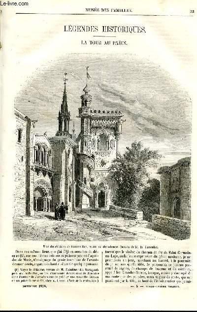 Le musée des familles - lecture du soir - deuxième série - livraisons n°05 et 06 - Légendes historiques - La tour au Païen par Saintine , à suivre.