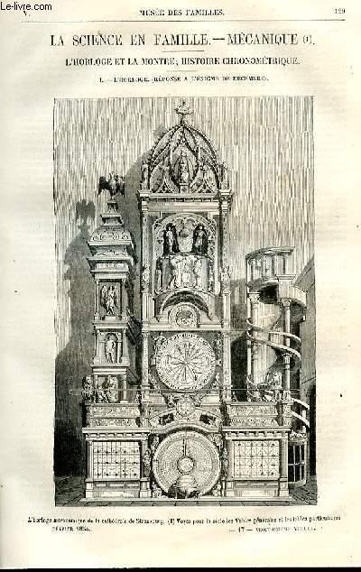 Le musée des familles - lecture du soir - deuxième série - livraisons n°17 et 18 - La science en famille - Mécanique - L'horloge et la montre, histoire chronométrique par Noblet, à suivre.