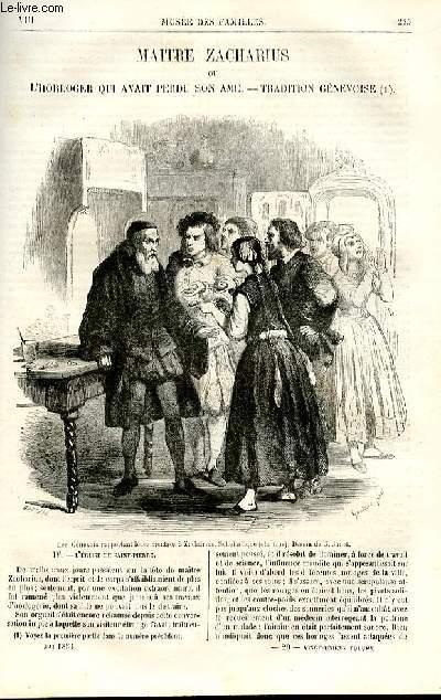 Le musée des familles - lecture du soir - deuxième série - livraison n°29 - Maitre Zacharius ou L'horloger qui avait perdu son âme, tradition genévoise , suite et fin  par Jules Verne.