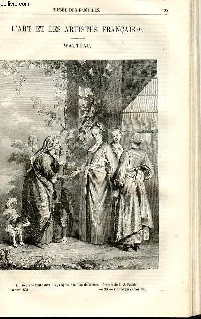 Le musée des familles - lecture du soir - deuxième série - livraisons n°39 et 40 - L'art et les artistes français - Watteau  par Houssaye.