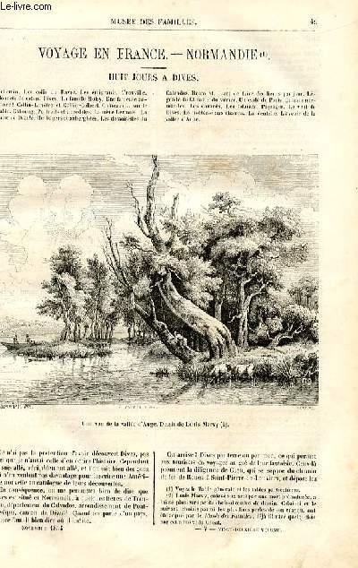 Le musée des familles - lecture du soir - deuxième série - livraisons n°07 et 08- Voyage en France - Normandie: Huit jours à Dives par Amédée Achard.