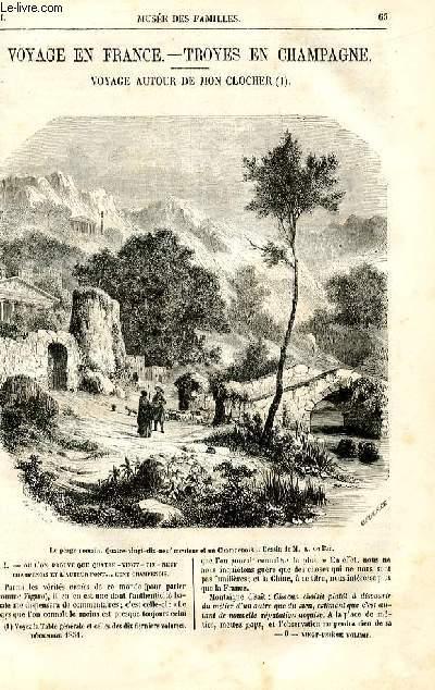 Le musée des familles - lecture du soir - deuxième série - livraison n°09 - Voyage en France - troyes en Champagne - voyage autour de mon clocher par Louis Ulbach, à suivre.