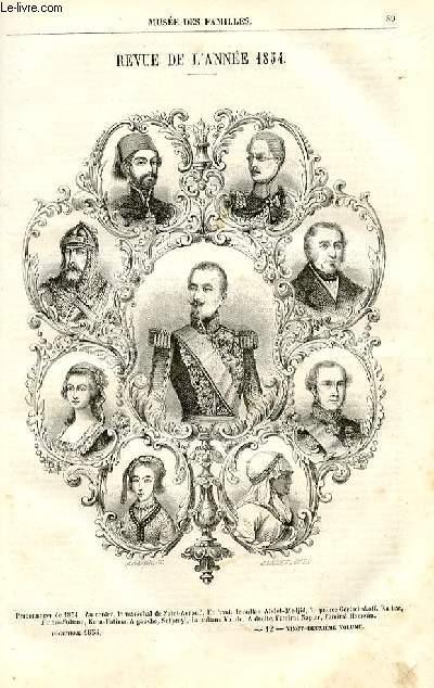 Le musée des familles - lecture du soir - deuxième série - livraison n°12 - Revue de l'année 1854 par De Chatouville.