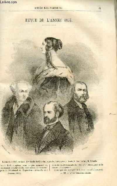 Le musée des familles - lecture du soir -  livraisons n°11 et 12 - Revue de l'année 1855 par Pitre Chevalier, à suivre.