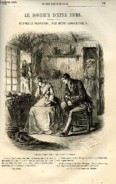 Le musée des familles - lecture du soir -  livraisons n°29 et 30  - Le bonheur d'être riche, nouvelle flamande par Henri Conscience, suite .