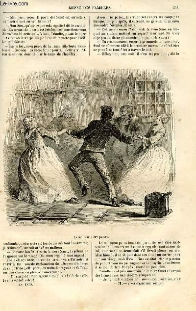 Le musée des familles - lecture du soir -  livraisons n°31 et 32 - Le bonheur d'être riche,nouvelle flamande par Henri Conscience, suite et fin.
