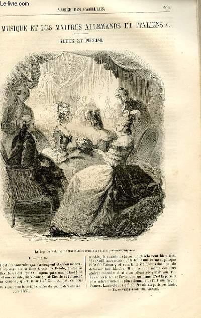 Le musée des familles - lecture du soir -  livraison n°34 - La musique et les maitres allemands et italiens - Gluck et Piccinipar Gustave Desnoiresterres,à suivre.