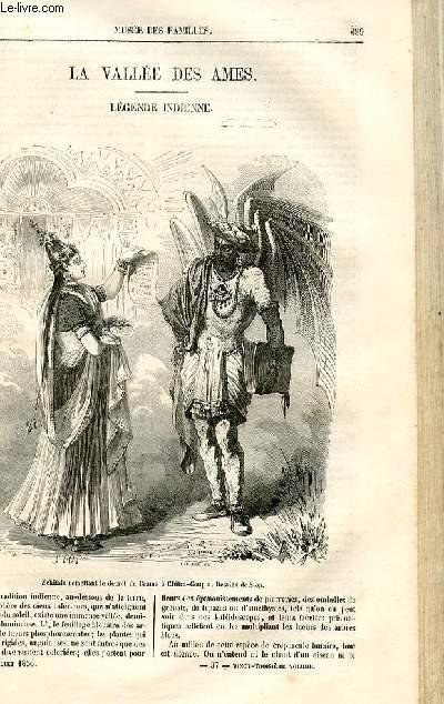 Le musée des familles - lecture du soir -  livraison n°37 - La vallée des âmes , légende indienne  par Saintine.