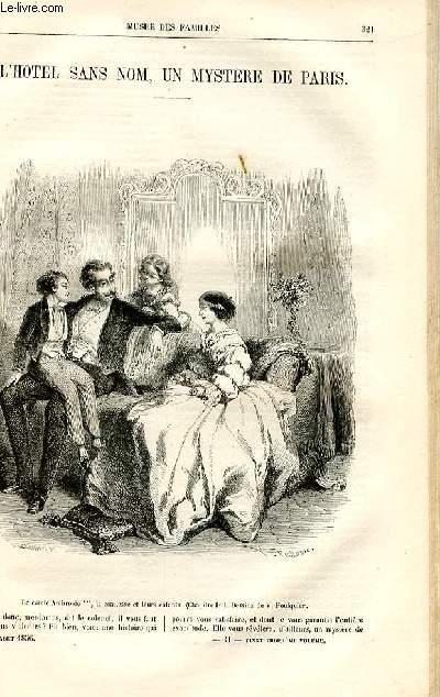 Le musée des familles - lecture du soir -  livraison n°41 - L'hôtel sans nom, un mystère de Paris par Pitre Chevalier.