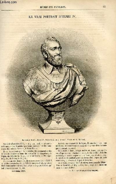 Le musée des familles - lecture du soir -  livraison n°08 - Le vrai portrait d'Henri IV  par Pitre Chevalier.