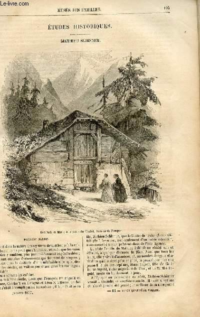 Le musée des familles - lecture du soir -  livraison n°14 - Etudes historiques - Mathieu Schinner par Adam Boisgontier,à suivre.