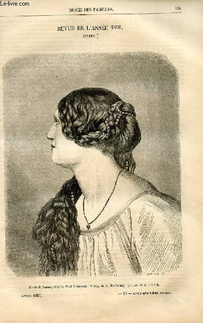 Le musée des familles - lecture du soir -  livraison n°16 - Revue de l'année 1856 ,suite.