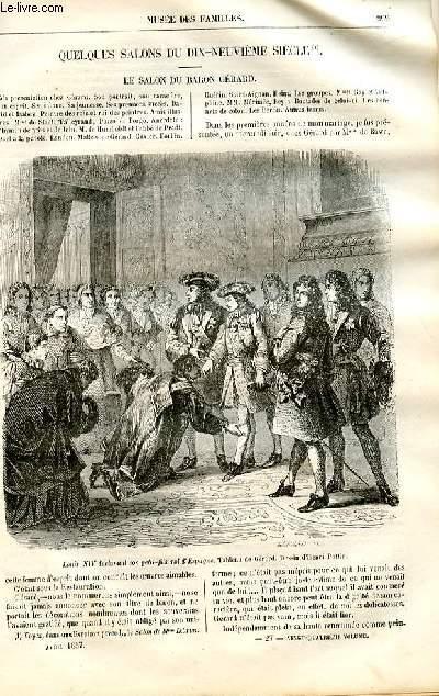 Le musée des familles - lecture du soir -  livraison n°27 - Quelques salons du 19ème siècle - Le salon du baron Gérard par Mme Ancelot.