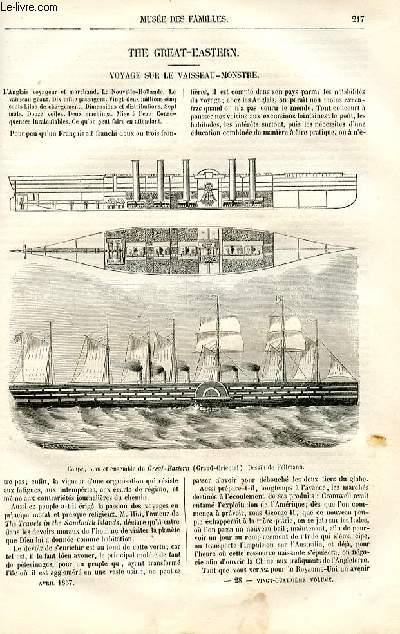 Le musée des familles - lecture du soir -  livraison n°28 - The Great - Eastern, voyage sur le vaisseau-monstre par Francis Wey.