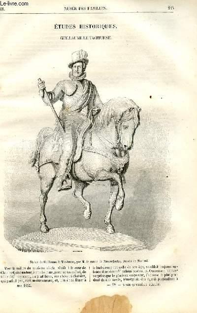 Le musée des familles - lecture du soir -  livraisons n°29 et 30 - Etudes historiques - Guillaume Le Taciturne par Victor Fournel.