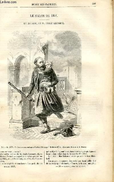 Le musée des familles - lecture du soir -  livraison n°38 - Le salon de 1857 - Le Zouave par Emile Lecomte.