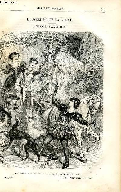 Le musée des familles - lecture du soir -  livraison n°43 - L'ouverture de la chasse - Autrefois  et aujorud'hui  par Pitre Chevalier.