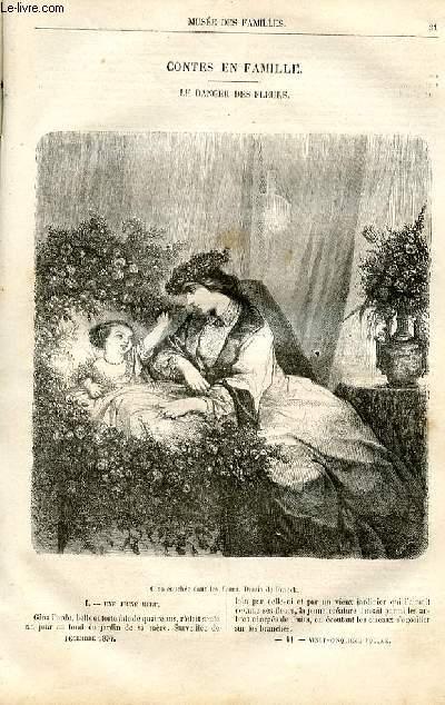 Le musée des familles - lecture du soir -  livraisons n°11 et 12 - Contes en famille - Le danger des fleurs par valmore Desbordes.