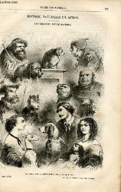 Le musée des familles - lecture du soir -  livraison n°42 - Histoire naturelle en action: Les chiens et leurs maitres par Pitre Chevalier.