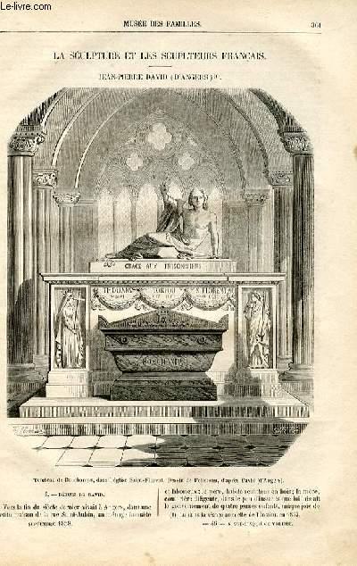 Le musée des familles - lecture du soir -  livraison n°46 - La sculpture et les sculpteurs français - Jean Pierre David (D'Angers) par F. Halévy.