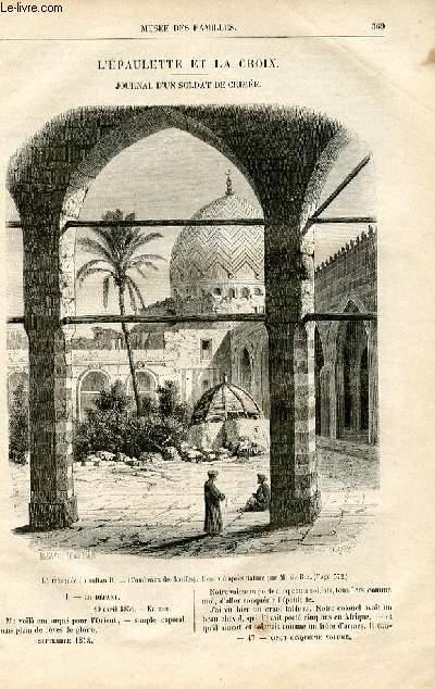 Le musée des familles - lecture du soir -  livraisons n°47 et 48 - L'épaulette et la croix,journal d'un soldat de Crimée par Pitre Chevalier.