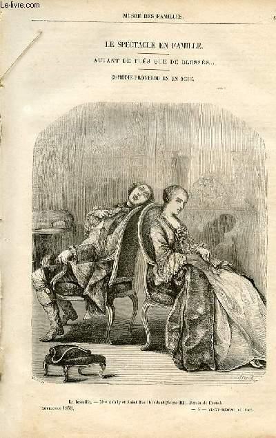 Le musée des familles - lecture du soir -  livraison n°06 - Le spectacle en famille - Autant de tués que de blessés,comédie proverbe en un acte  par A. Del Arno.