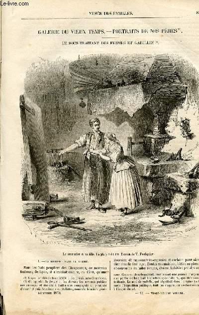 Le musée des familles - lecture du soir -  livraisons n°11 et 12 - Galerie du Vieux Temps - Portraits de nos pères: Le Sous-traitant des fermes et gabelles par Mary Lafon.