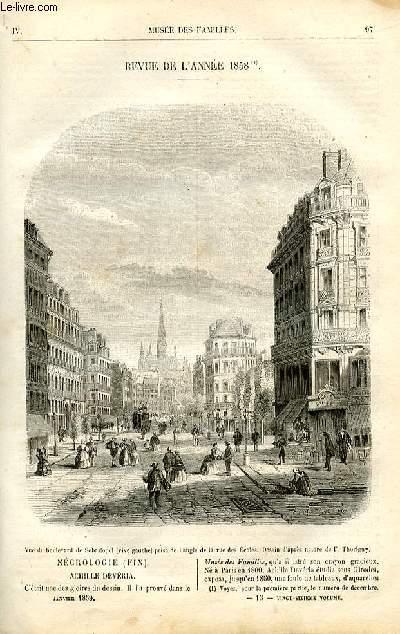 Le musée des familles - lecture du soir -  livraison n°13 - Revue de l'année 1858,suite.