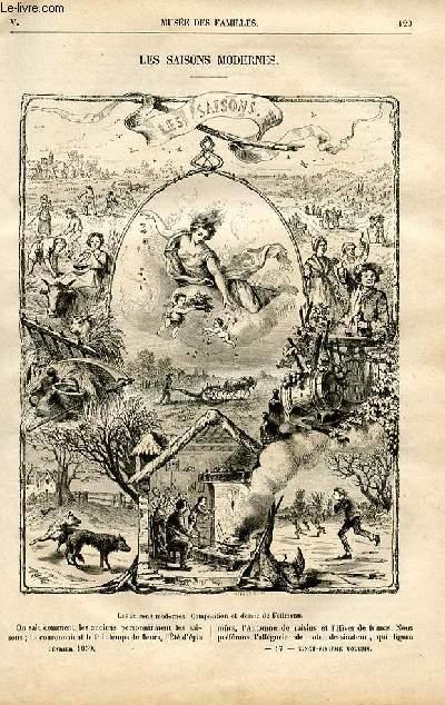 Le musée des familles - lecture du soir -  livraison n°17 - Les saisons modernes par De Chatouville.