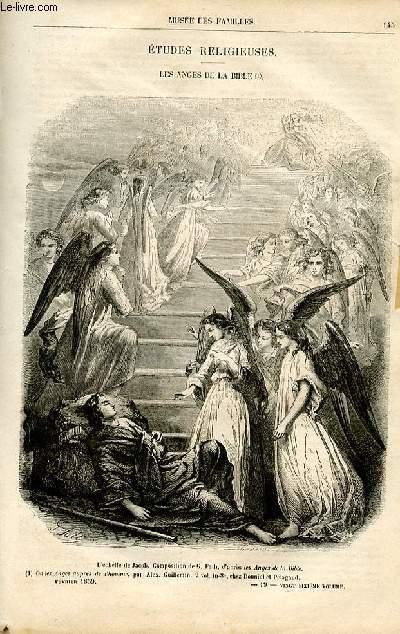 Le musée des familles - lecture du soir -  livraisons n°19 et 20- Etudes religieuses - Les anges de la bible par Lady Jane.