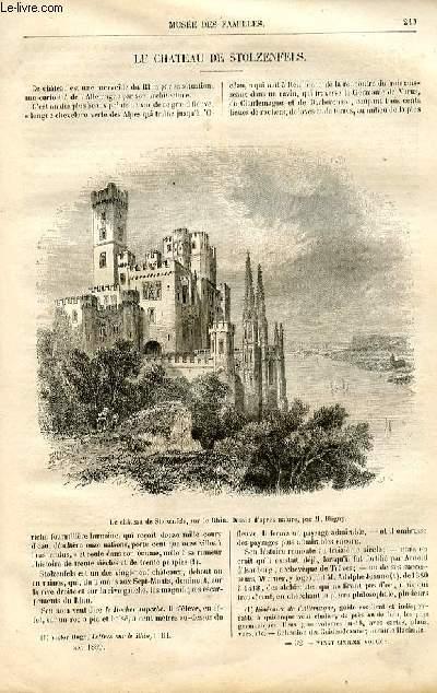 Le musée des familles - lecture du soir -  livraisons n°32 - Le château de Stolzenfels par un touriste.