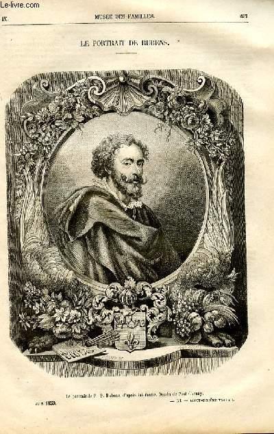 Le musée des familles - lecture du soir -  livraison n°33 - Le portrait de Rubens par Pitre Chevalier.