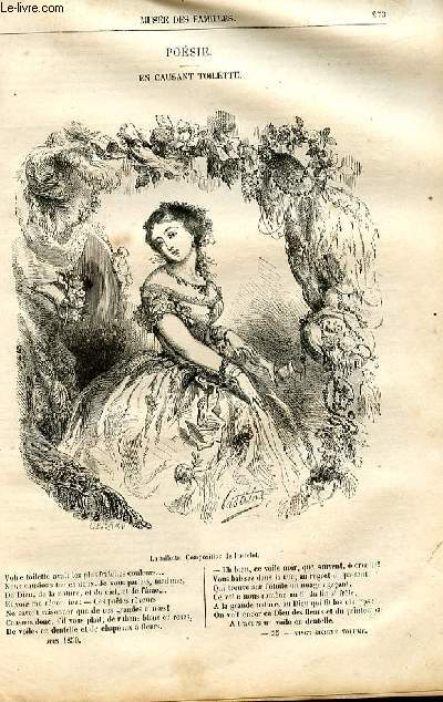 Le musée des familles - lecture du soir -  livraisons n°35 et 36 - Poésie - En causant toilette par Anaïs Ségalas, poème.
