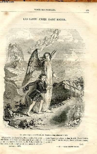 Le musée des familles - lecture du soir -  livraisons n°48 - Les saints anges  - Saint Michel,quelques lignes (6 lignes).