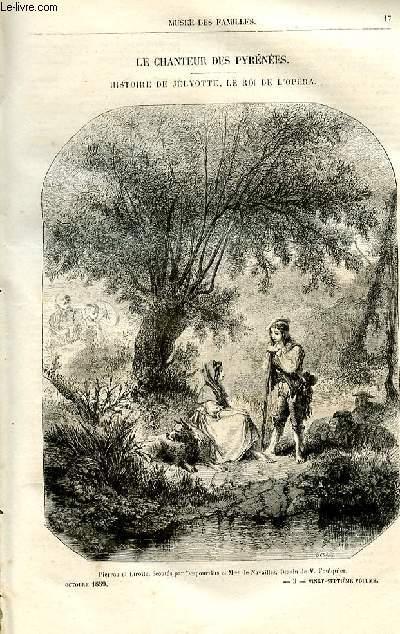 Le musée des familles - lecture du soir -  livraisons n°03 et 04 - Le chanteur des Pyrénées, histoire de Jélyotte, le roi de l'opéra par MAry Lafon,à suivre.
