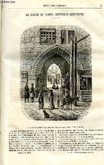 Le musée des familles - lecture du soir -  livraison n°07 - Le bazar du Caire - costumes égyptiens.