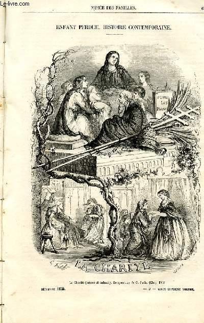 Le musée des familles - lecture du soir -  livraisons n°09 et 10 - Enfant perdue, histoire contemporaine par Germond de Lavigne.