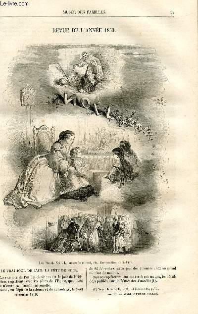 Le musée des familles - lecture du soir -  livraisons n°11 et 12 - Revue de l'année 1859  par Pitre Chevalier.