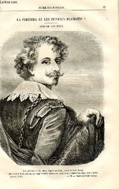 Le musée des familles - lecture du soir -  livraisons n°13 et 14 - La peinture et les peintres flamands - Antoine Van Dyck par Pitre Chevalier.