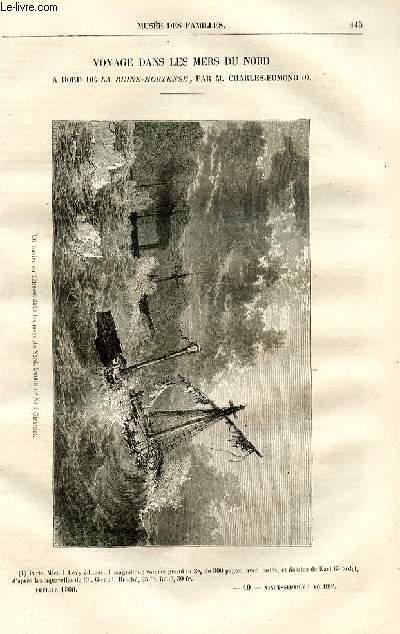 Le musée des familles - lecture du soir -  livraison n°19 - Voyage dans les mers du nord - à bord de la Reine Hortense par Charles Edmond.
