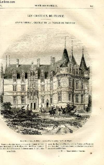Le musée des familles - lecture du soir -  livraisons n°21 et 22- Les châteaux de France - Azay-Le-Rideau, château de la famille de Biencourt par PItre Chevalier.
