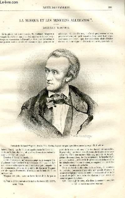 Le musée des familles - lecture du soir -  livraisons n°27 et 28 - La musique et les musiciens allemands - Richard Wagner.