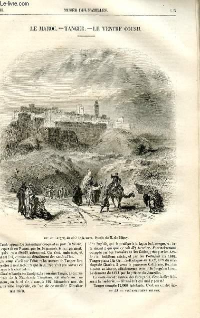 Le musée des familles - lecture du soir -  livraisons n°29 et 30 - Le MAroc - Tanger - Le ventre cousu par Pitre Chevalier.