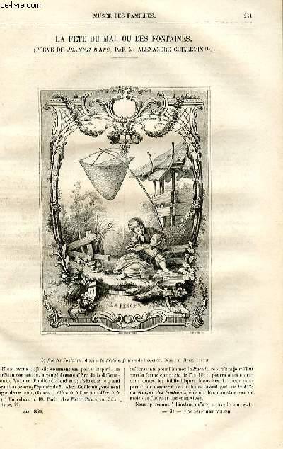 Le musée des familles - lecture du soir -  livraison n°31 - La fête du mai ou des fontaines (poème de jeanne d'Arc par Alexandre Guillemin).