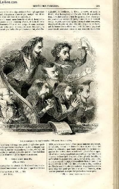 Le musée des familles - lecture du soir -  livraisons n°34 et 35 - Histoire anecdotique des quarante fauteuils de l'Académie Française  - fauteuil de Victor Hugo,suite et fin par Fournel.