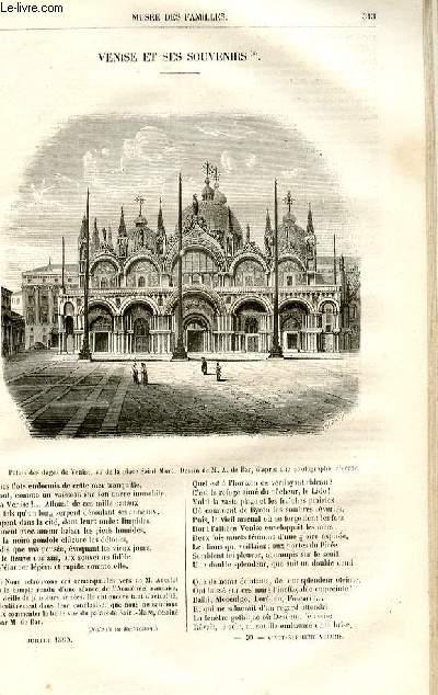Le musée des familles - lecture du soir -  livraison n°40 - Venise et ses souvenirs par Ancelot.