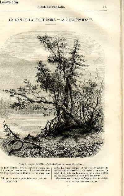 Le musée des familles - lecture du soir -  livraison n°41 - Un coin de la Forêt Noire - la Herrewiess,suite et fin par Amédée Achard.