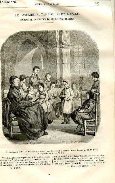 Le musée des familles - lecture du soir -  livraison n°43 - Le cathéchisme , tableau de Mme Browne (dernière exposition du boulevard italien) par Pitre Chevalier.